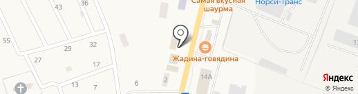 Магазин продуктов на Административной на карте Первомайского
