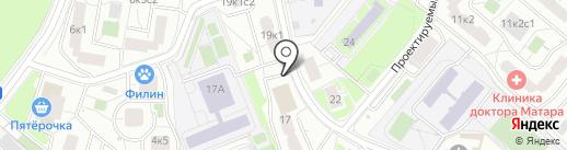 Киоск по продаже мороженого на карте Москвы