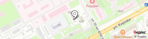 Факел на карте Подольска