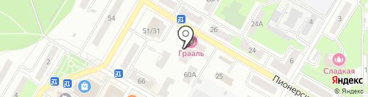 Красное & Белое на карте Подольска