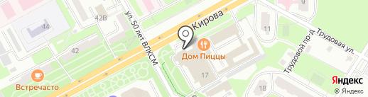 Дом пиццы на карте Подольска