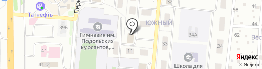 Корона на карте Климовска