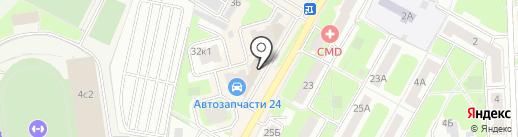Адвокатский кабинет Дигина В.А. на карте Подольска