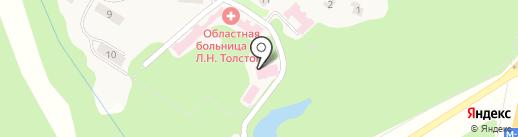 Поликлиника на карте Ясной Поляны