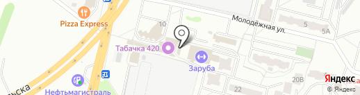 Крендель на карте Подольска