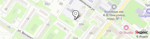Колосок на карте Подольска
