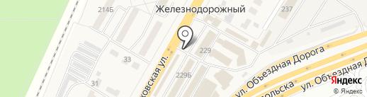 Киоск фастфудной продукции на карте Железнодорожного