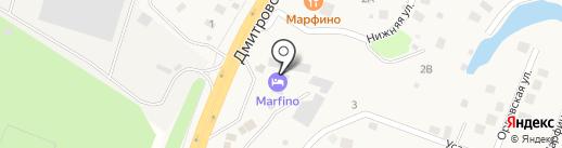 Марфино на карте Ерёмино