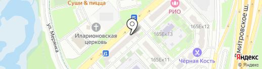 Магазин продуктов на карте Москвы
