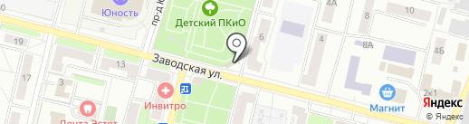 Цветочный салон на карте Климовска
