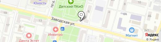 Киоск по продаже хлебобулочных изделий на карте Климовска