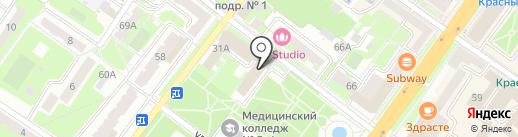 Бизнес Сити на карте Подольска