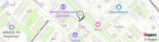 Дино Пауэр на карте Москвы