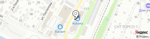 Визит на карте Подольска