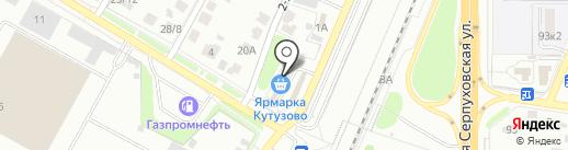 Самобранка на карте Подольска