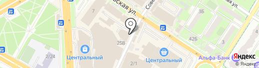 Платежный терминал, Московский кредитный банк, ПАО на карте Подольска