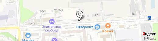 Киоск по продаже фастфудной продукции на карте Подольска