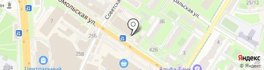 Перекресток на карте Подольска