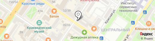 Русская Красавица на карте Подольска