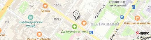 Цветоша на карте Подольска