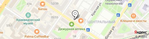 Киоск фруктов и овощей на карте Подольска