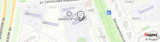 Раменки на карте Москвы