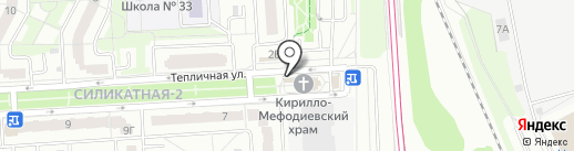 Церковная лавка на карте Подольска