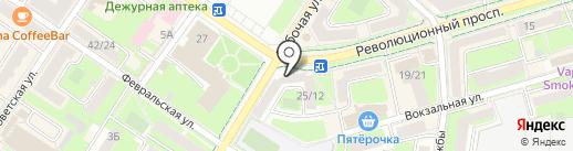 Сеть салонов обуви на карте Подольска