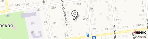 Раевский сетевой участок на карте Новороссийска