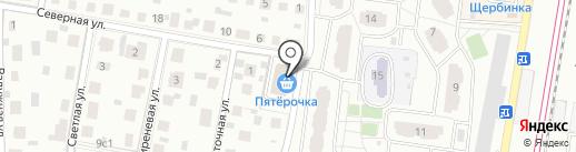 Радуга на карте Щербинки