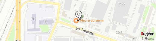 Магазин мяса на карте Подольска