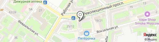 Лисан на карте Подольска