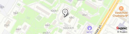 Гордент на карте Москвы