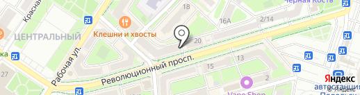 Чебоксарский трикотаж на карте Подольска