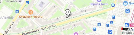 Пинта на карте Подольска