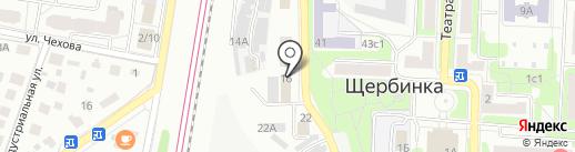 Реутов на карте Щербинки