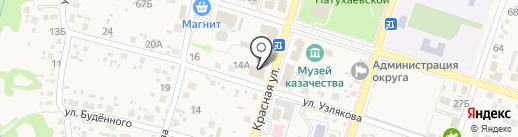 Крепость на карте Новороссийска