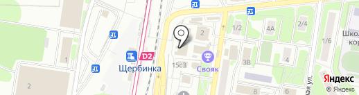 Магазин одежды и обуви на карте Щербинки