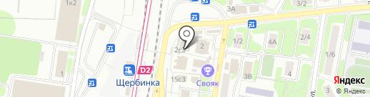 Магазин постельного белья на карте Щербинки