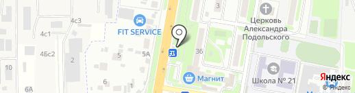 Окей на карте Подольска