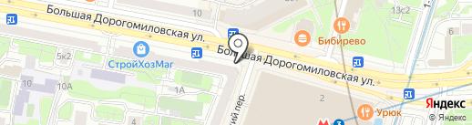 Касса по продаже авиа и железнодорожных билетов на карте Москвы