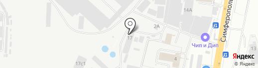 Партерра на карте Щербинки