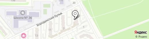 Каскад на карте Подольска