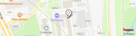 Платформа на карте Москвы