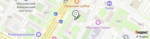 Винсенто на карте Москвы