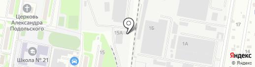 Дон-холод на карте Подольска