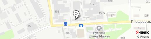 Денмарко на карте Подольска
