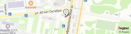 Магазин мясной продукции на карте Щербинки