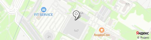 Электросервис на карте Москвы