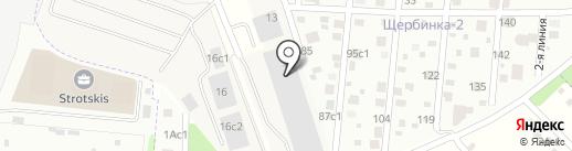 СЛАВКОФЕ на карте Щербинки